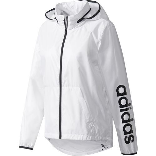 81aeaf34 Adidas Women's Linear Windbreaker (White, Size Small) - Women's Athletic  Apparel, Women's Athletic Performance Tops at Academy Sports