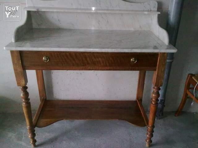 meuble de salle de bain en marbre - Meuble Ancien Salle De Bain