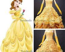Handmade - Belle Dress Belle Costume Princess Belle Dress Belle Dress Adult/ & Handmade - Belle Dress Belle Costume Princess Belle Dress Belle ...