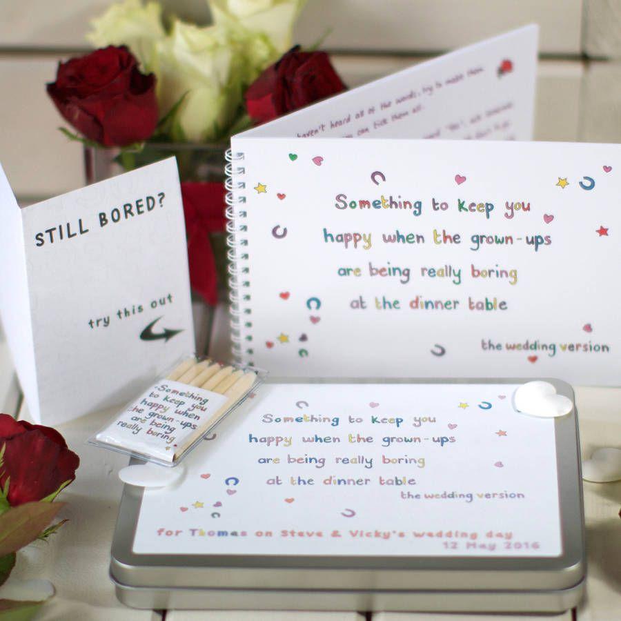Personalised Wedding Activity Set For Children | Wedding activities ...