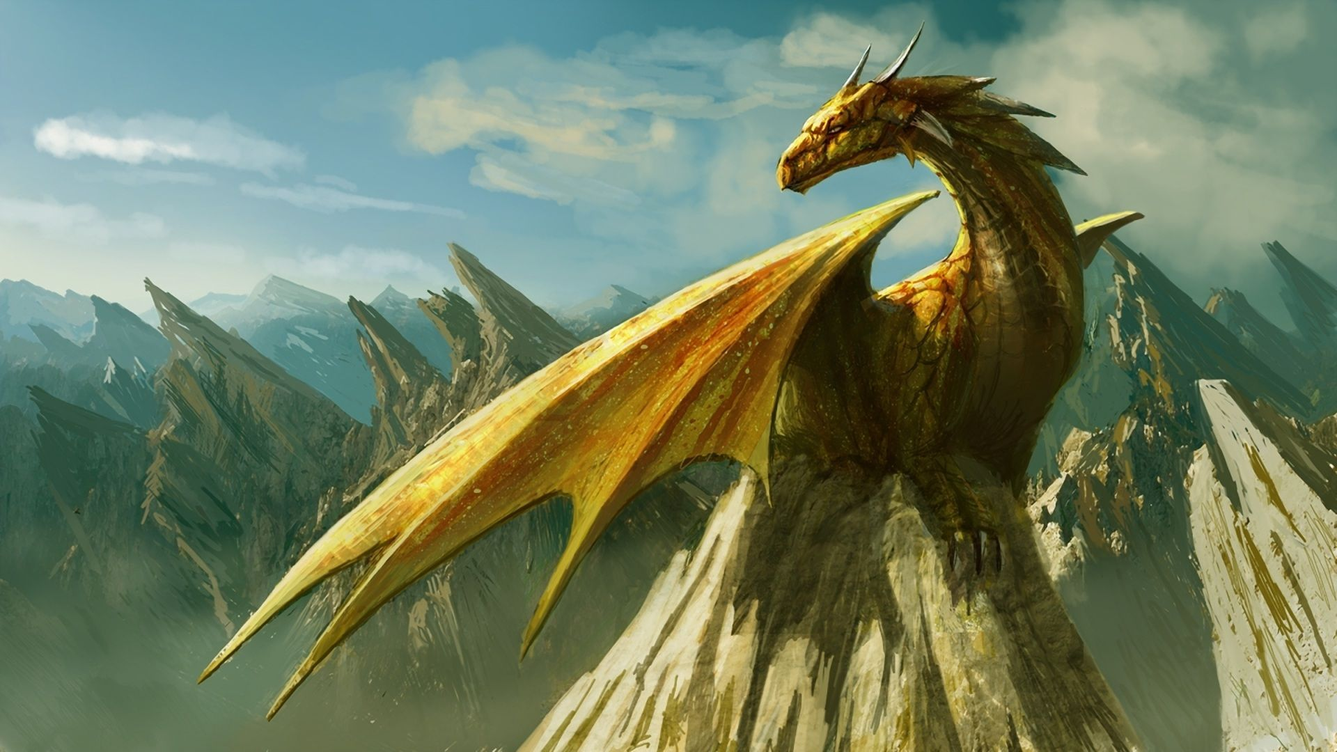 Dragon Hd Wallpaper 1920x1080 Fantasy Dragon Mythical Creatures Fantasy