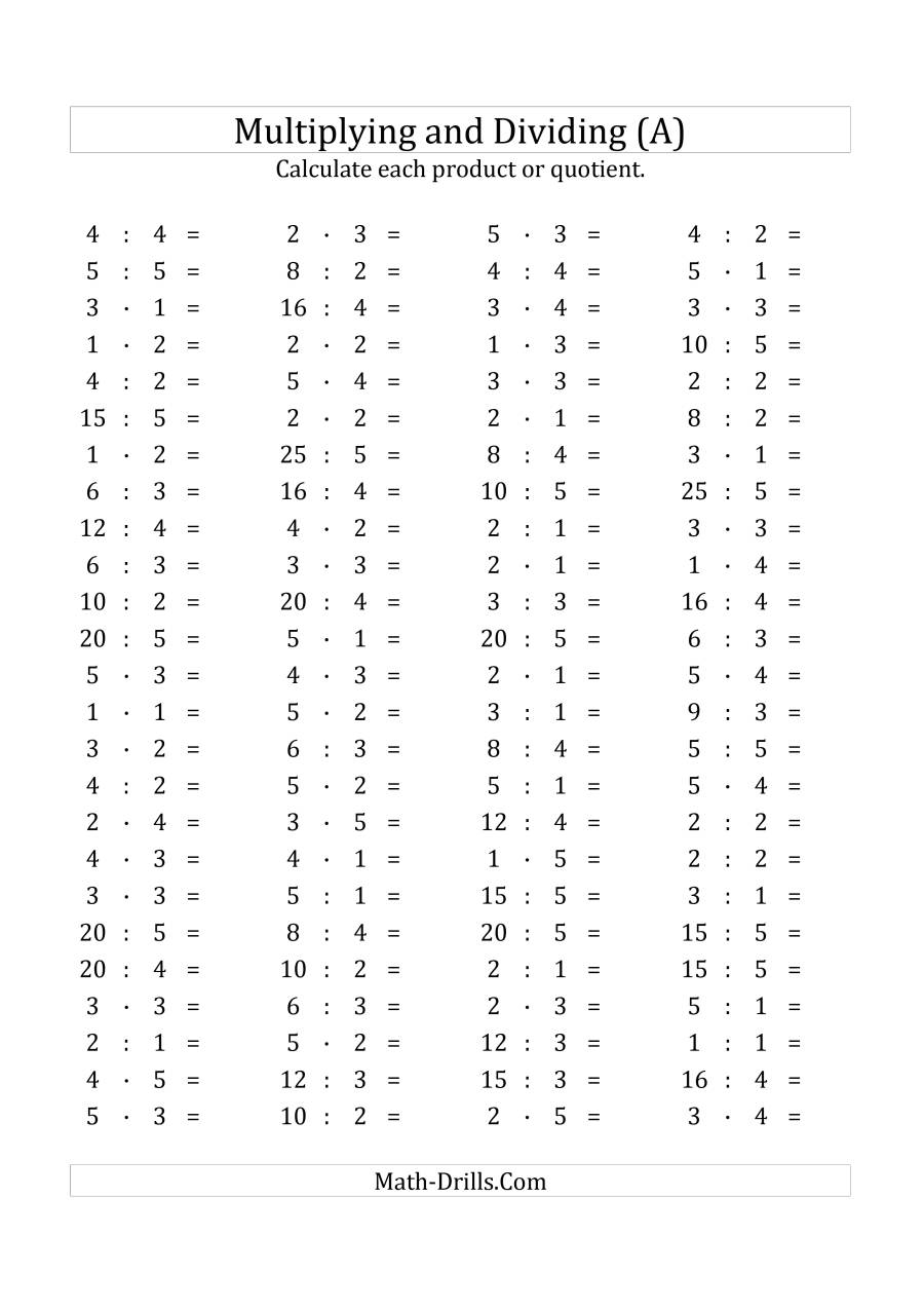 Mixed Operations Math Worksheets Multiplication Facts Worksheets Math Worksheets Multiplication Facts