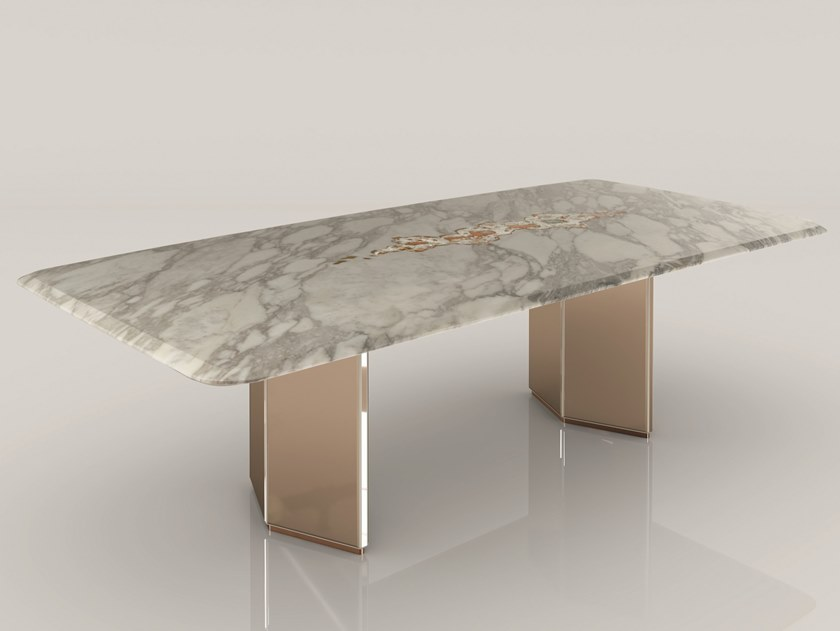 Rectangular Marble Dining Table Galitsin By Visionnaire In 2020 Dining Table Marble Marble Dining Dining Table