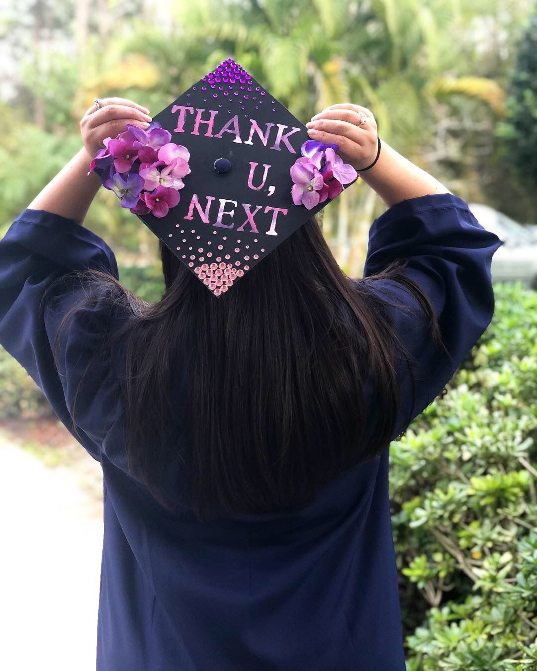 thank u next graduation cap