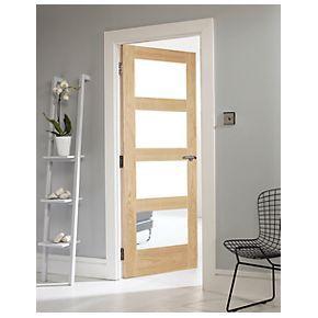 Jeld Wen Shaker 4 Light Interior Glazed Door Oak Veneer 762 X 1981mm Interior Glazed Doors Doors Interior Interior Design Colleges