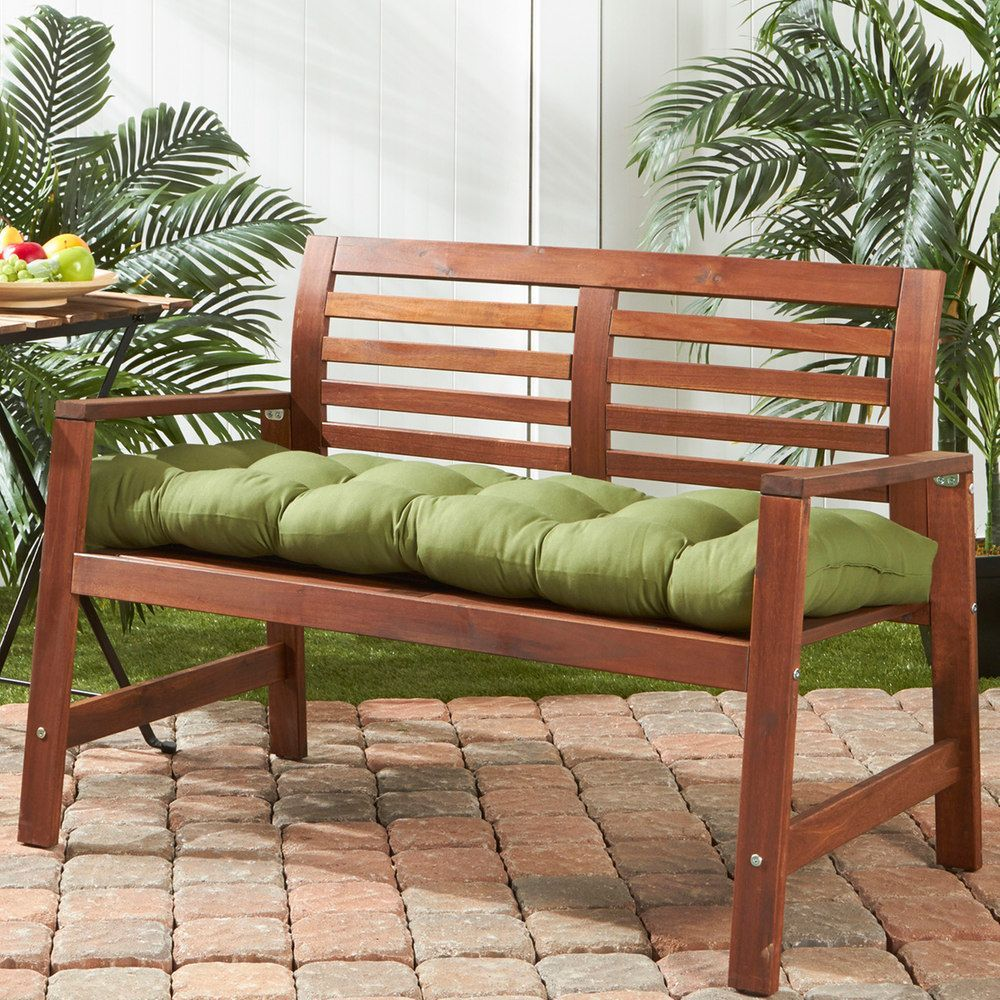 Greendale Home Fashions Outdoor Porch Swing Or Bench Cushion Long Porch Swing House Styles Bench Cushions