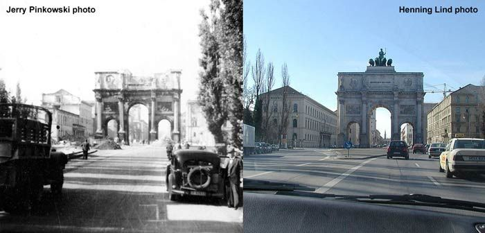 Then And Now World War Photos Then Now Pinterest - Germany map then and now