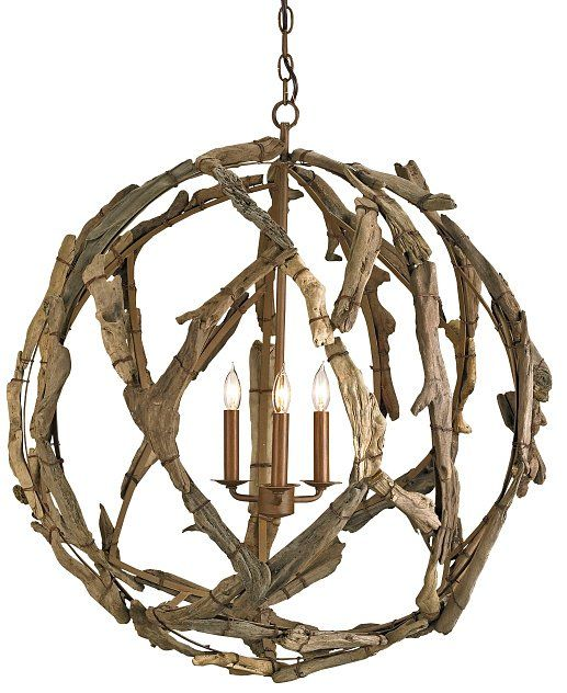 Decorating · Driftwood Orb Chandelier