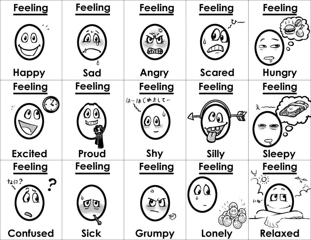 Feelings Cards By Gladlad Feelings Faces Feelings Feelings And Emotions