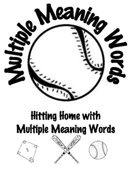 Common Core 2-5 Baseball Themed Multiple Meaning Word