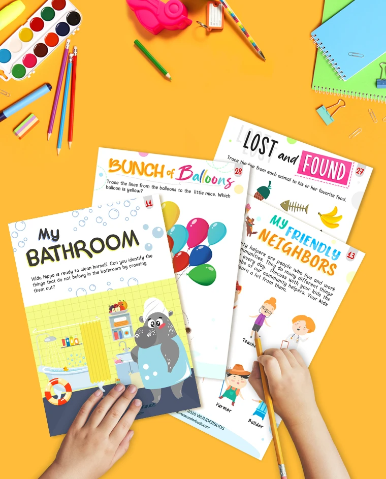 The Wonderful Things Around Me 3 4 Years Old Wunderbuds Homeschool Activities Book Activities Helping Kids