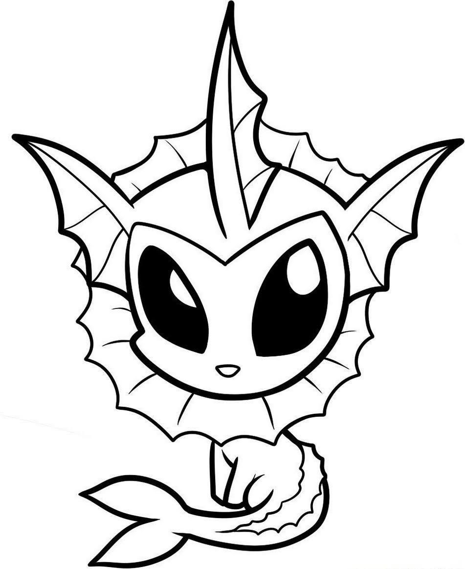 Pokemon Vaporeon Coloring Pages Pokemon Malvorlagen Malvorlagen