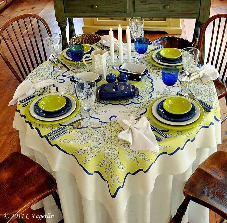 This matches our Fiesta ware...except our blue is turquoise ...