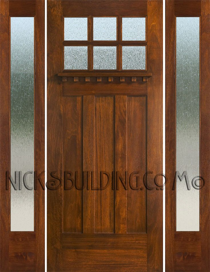 Craftsman Style Doors And Sidelights Entry Doors Craftsman Style Doors Craftsman Style