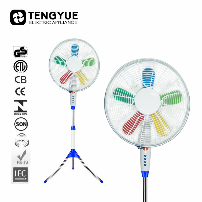 good price 12v brushless dc fan colourful blade 16 inch dc