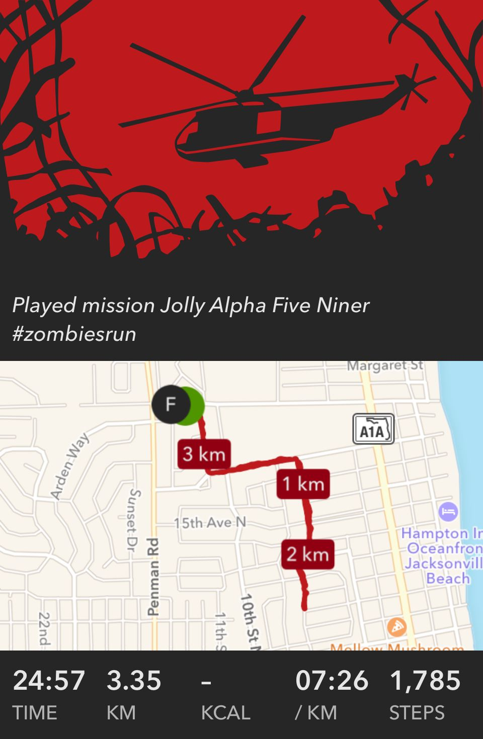 Played Mission Jolly Alpha Five Niner Zombiesrun Zombies Run Jolly Mission