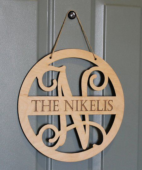 This elegant wooden sign\'s personalized design adds a one-of-a ...