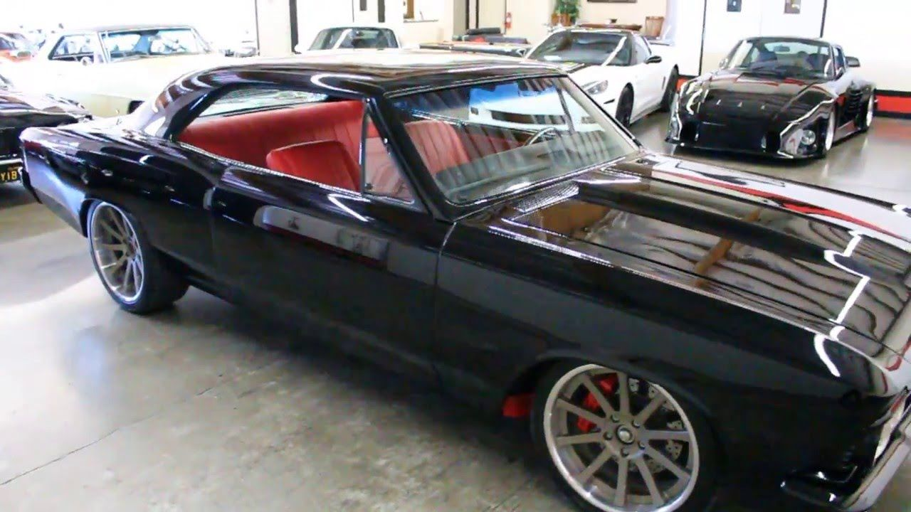 Video Clip Of 66 Chevelle Black With Red Interior Brushed