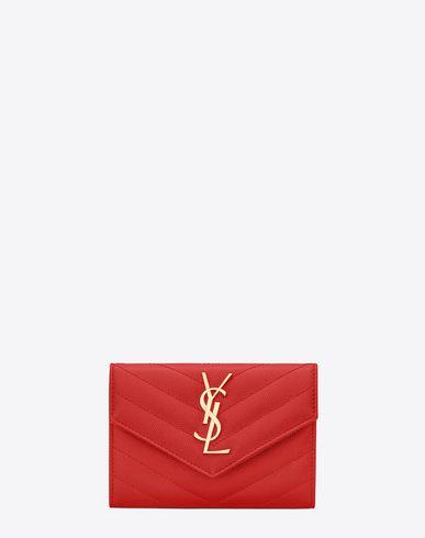 Saint Laurent Portefeuille Enveloppe Monogramme Velvet Handbag Free Shipping Sale Online Best Store To Get Buy Newest Sale Low Price kqYGDyk