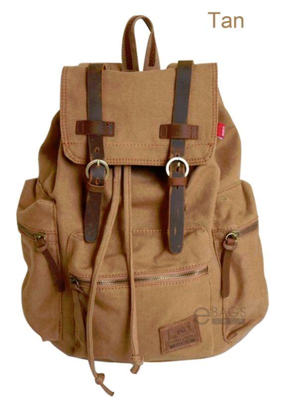 Travel Canvas Sport Rucksack Camping School Satchel Laptop Hiking Bag  Backpack 85bbc0bbde4da