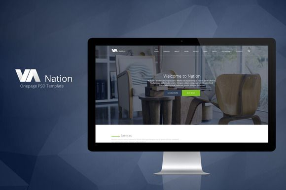 Check out Nation-One Page PSD Template by jilviv on Creative Market
