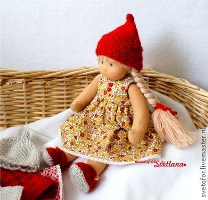 Бусинка, 23 см - вальдорфская кукла,вальдорфская игрушка,игровая кукла