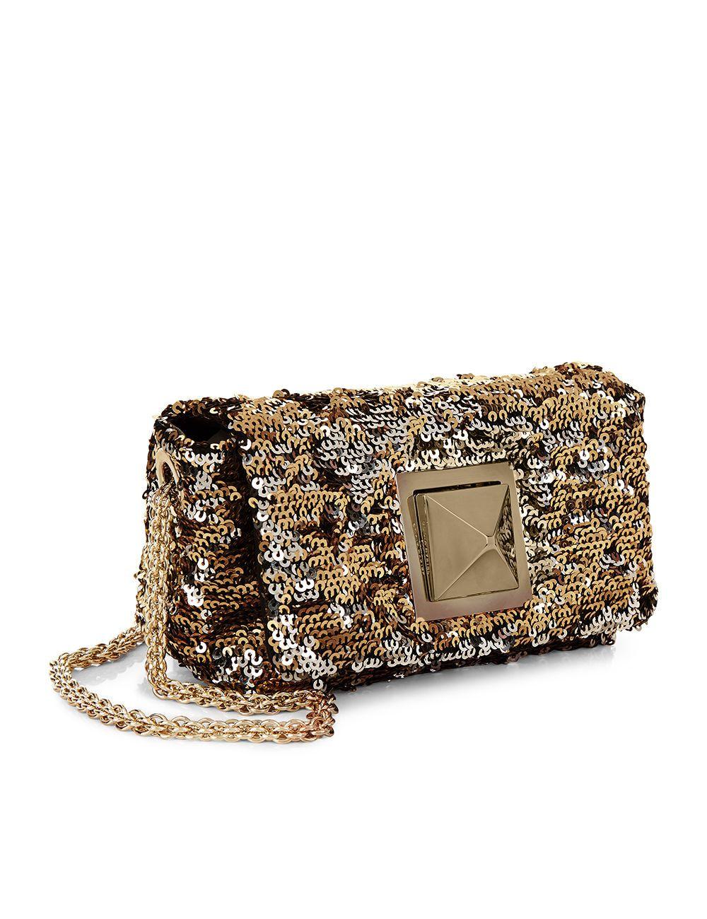 0c5ff6a12a Gold & Silver Sequin Le Copain Shoulder Bag | Bags | Silver sequin ...