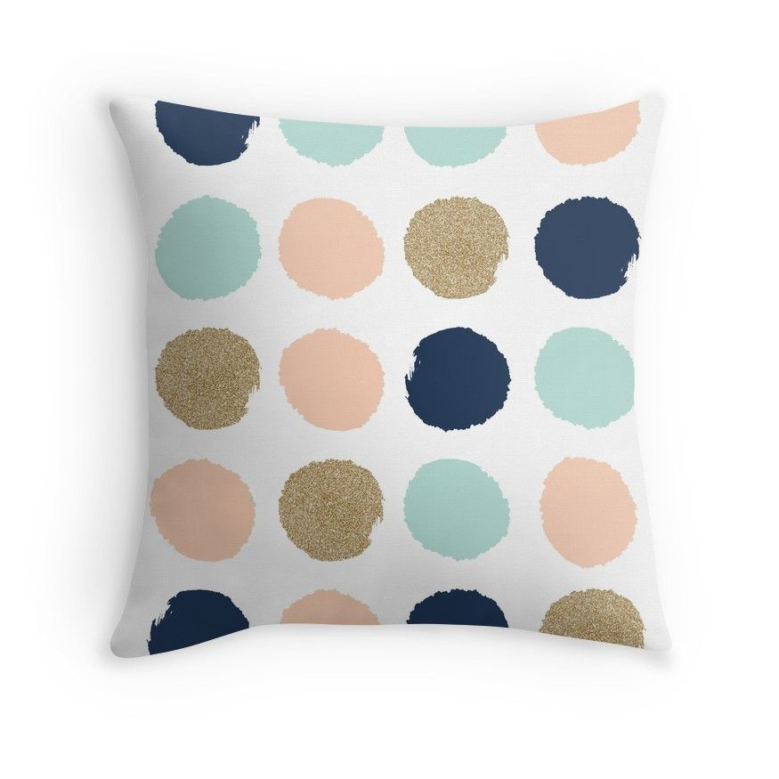 Wren Brush Strokes In Modern Colors Turquoise Mint Navy Blush Throw Pillow By Charlottewinter Blush Throw Pillow Best Bedroom Colors Bedroom Color Schemes