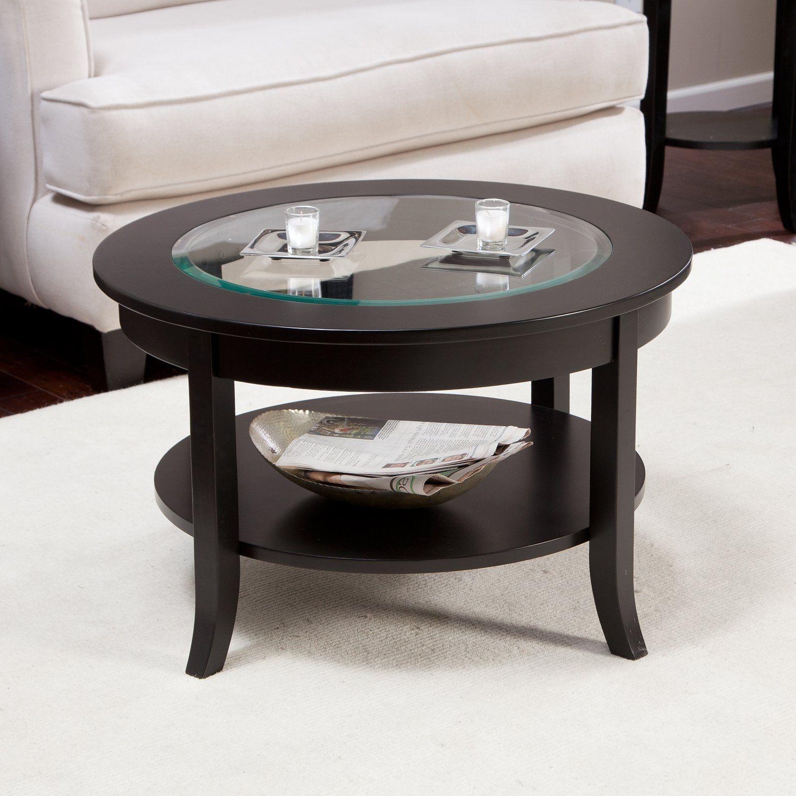 Genoa Coffee Table With Glass Top Dark Espresso [ 1600 x 1600 Pixel ]