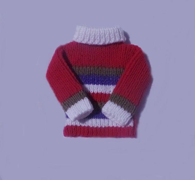 ... para bebês. Blusas cacharrel em tricô à mão. Confeccionado com lã mais  grossa do que a lã bc3aea8ae7