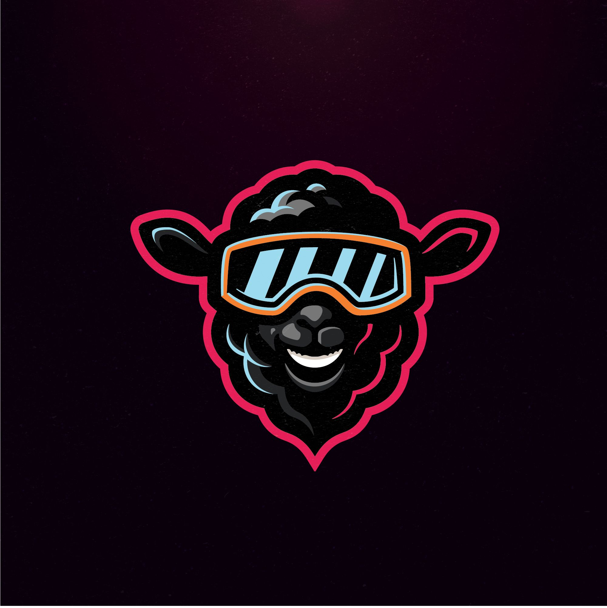 Snowboarder black sheep. Logo avaiable! Can also be used