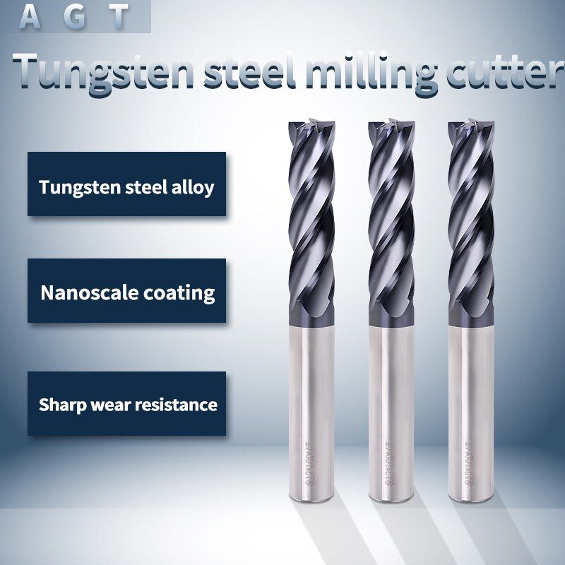4mm Tungsten Carbide Coated 4 Flute End Mill CNC Milling Cutter Drill Bit Tool