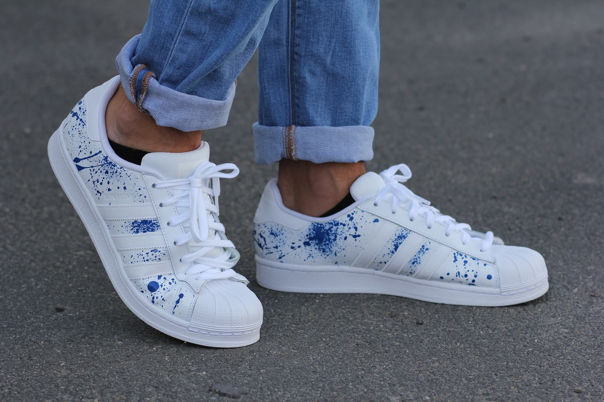 adidas superstar blue hype