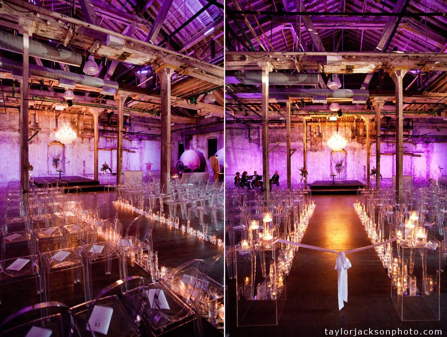 Uplighting Adds A Beautiful Touch To This Gorgeous Rustic Wedding Ceremony Rusticwedding