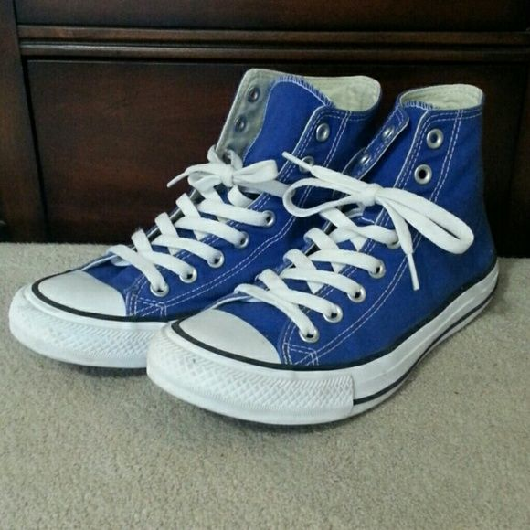 Royal blue Converse high tops | Blue