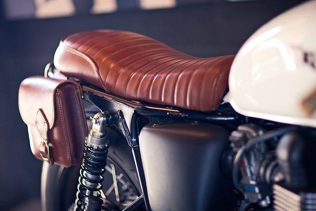SADDLE BAG: Triumph Bonneville custom by Deus