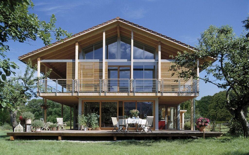 Kohaus schauer baufritz for Einfamilienhaus modern satteldach
