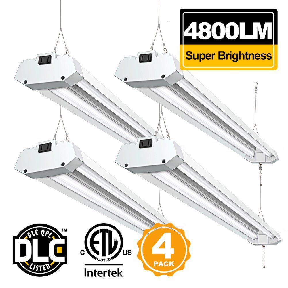 Linkable 4ft led shop light bbounder 4800 lumen 5000k daylight super linkable 4ft led shop light bbounder 4800 lumen 5000k daylight super bright utility light fixture surface arubaitofo Images