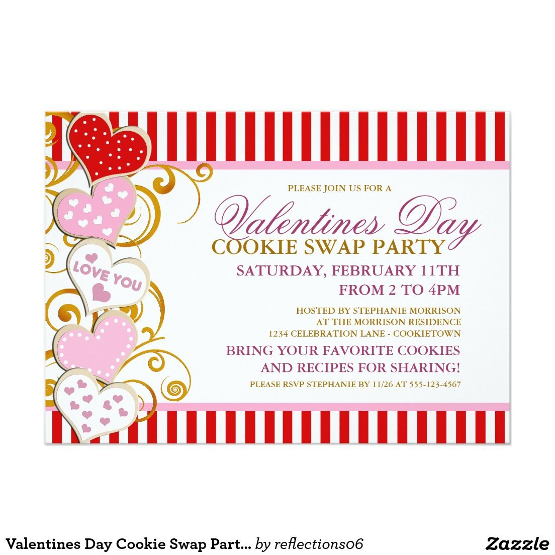 Day Cookie Swap Party Invitation