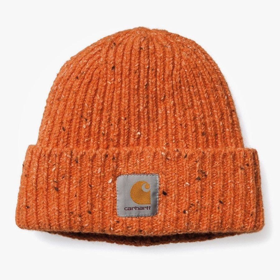 Carhartt speckled orange beanie  menswear  electrician  PRAIRIElectric 9f9df58cb8a2