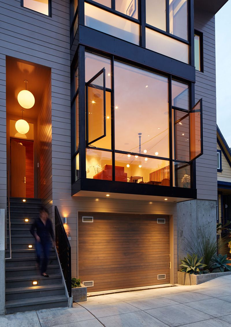 Gorgeous Interior Of Three Level Contemporary San Francisco House Home Design Lover Modern Townhouse Modern House Design Interior Architecture Design