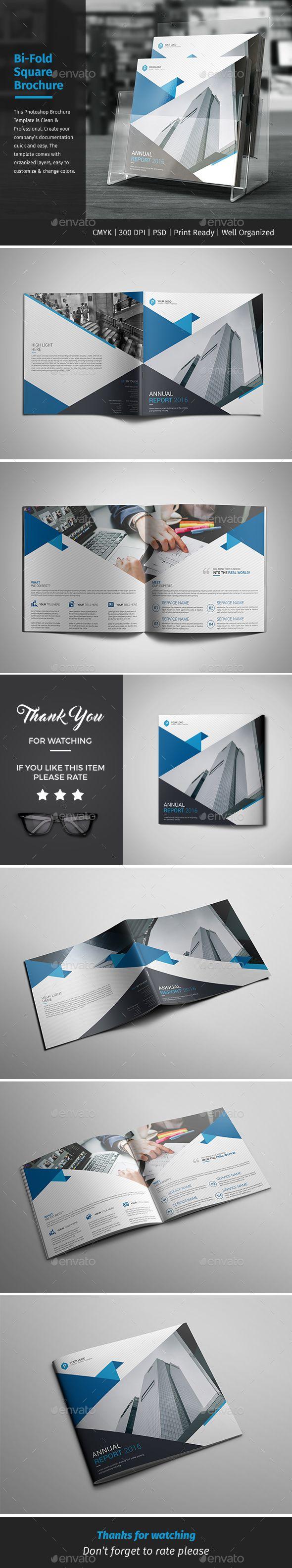 Corporate Bi-fold Square Brochure Template PSD. Download here: http://graphicriver.net/item/corporate-bifold-square-brochure-10/16668484?ref=ksioks