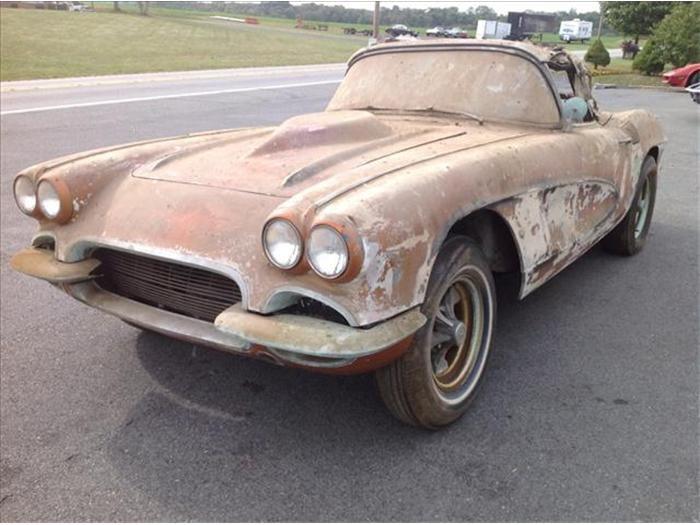 1962 Chevrolet Corvette Corvette Barn Find Cars Old American Cars