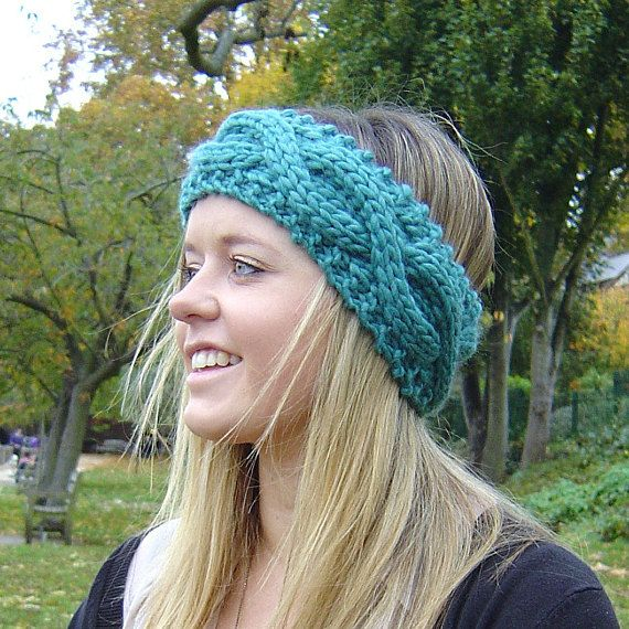 Knitting Pattern Cable Headband Ear Warmer Easy Beginner Knit