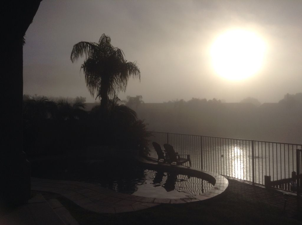 Foggy morning in Az, crazy!