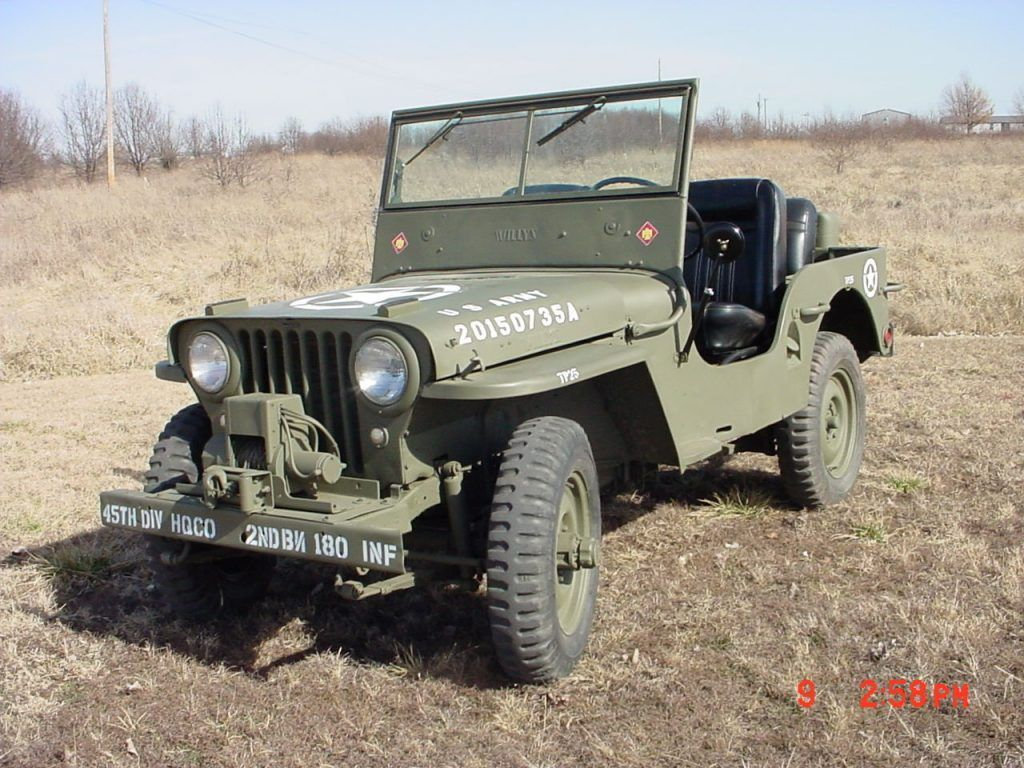 1947 Willys Jeep CJ2A | Willys jeep, Willys, Jeep