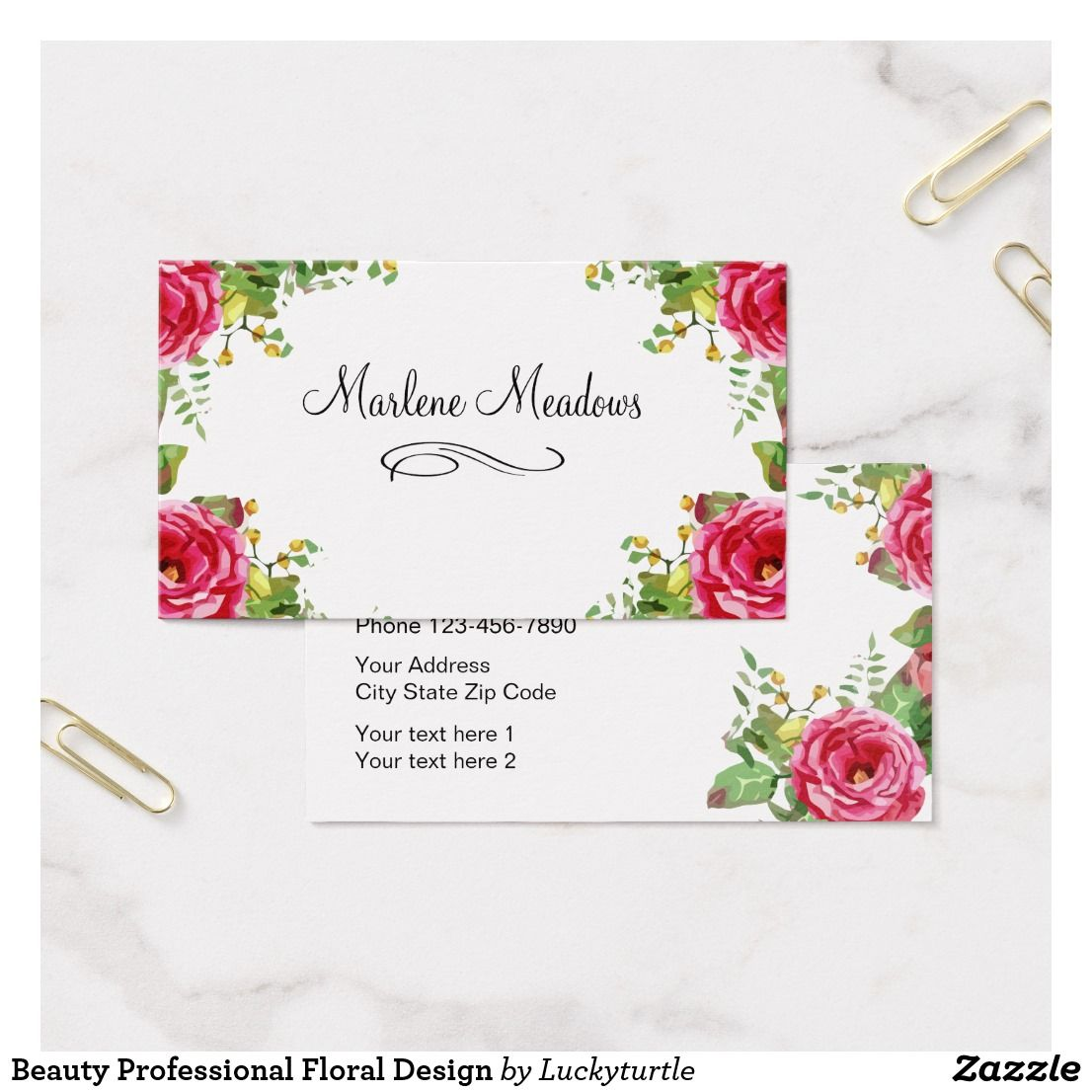 Beauty Professional Floral Design Business Card | Business ...