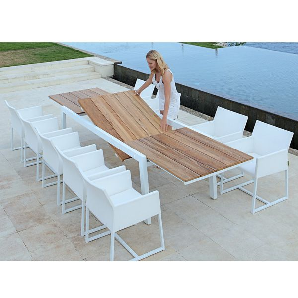Mamagreen Baia Outdoor Extension Patio Teak Dining Table
