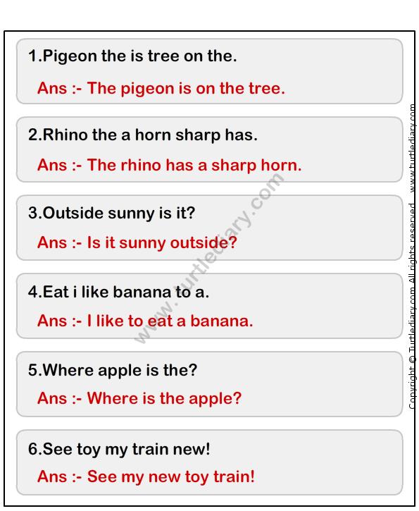 Simple Sentence Worksheet1 - esl-efl Worksheets - grade-1 Worksheets