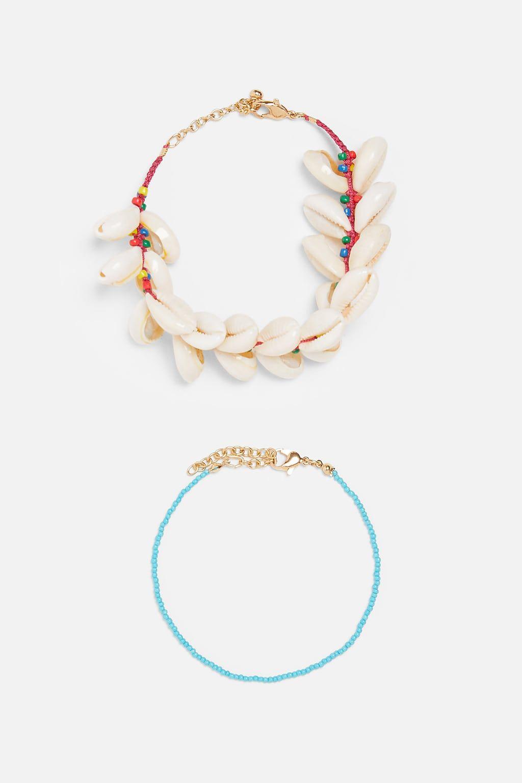 caractéristiques exceptionnelles style limité la moitié Pack of seashell bracelets or anklets ...